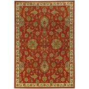 """StyleHaven Traditional Floral Nylon/Polypropylene 7'10"""" X 10'10"""" Red/Beige Area Rug (WCAB5317D8X11L)"""
