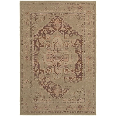 StyleHaven Traditional Antiqued Traditional Polypropylene 3'10