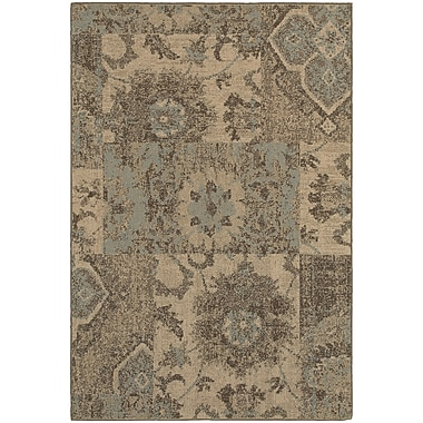 StyleHaven Casual Distressed Patchwork Polypropylene 7'10
