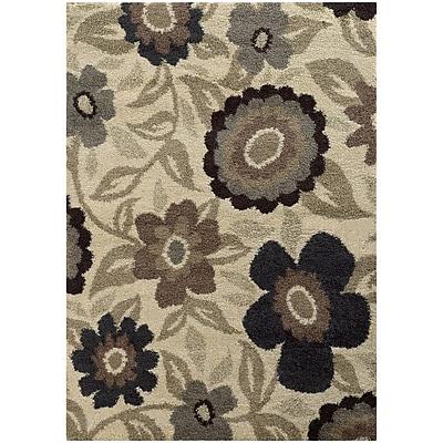 StyleHaven Shag Floral Polypropylene 7'10
