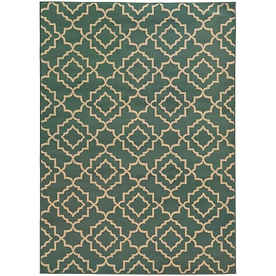 StyleHaven Transitional Geometric Lattice Polypropylene 5'3