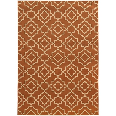 StyleHaven Transitional Geometric Lattice Polypropylene 6'7