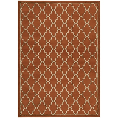 StyleHaven Geometric Lattice Polypropylene 7'10