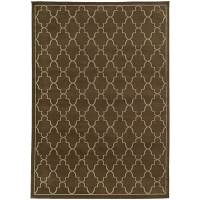 StyleHaven Transitional Geometric Lattice Polypropylene 7'10
