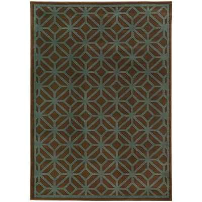 StyleHaven Transitional Geometric Tile Polypropylene 5'3