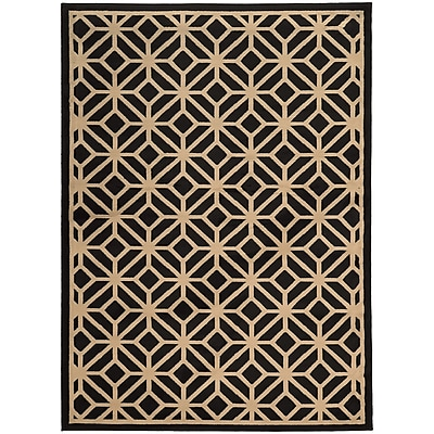 StyleHaven Transitional Geometric Tile Polypropylene 6'7