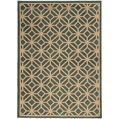 StyleHaven Transitional Geometric Tile Polypropylene 7'10