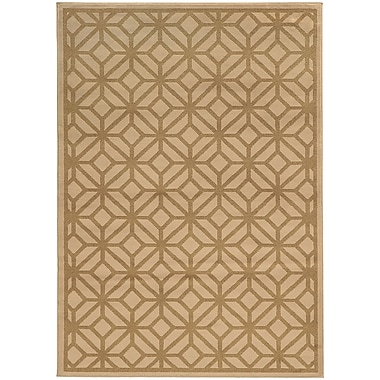 StyleHaven Transitional Geometric Tile Polypropylene 5'3