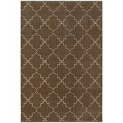 "StyleHaven Transitional Lattice Polypropylene/ Polyester 5'3"" X 7'6"" Brown/Ivory Area Rug (WELR5994N5X8L)"