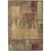 """StyleHaven Distressed Patchwork Polypropylene 7'10""""X11' Green/Beige Area Rug (WGNR1527X8X11L)"""