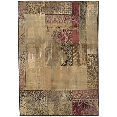 StyleHaven Transitional Distressed Patchwork Polypropylene 6'7