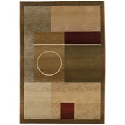 "StyleHaven Contemporary Geometric Polypropylene 7'10"" X 11' Green/Brown Area Rug (WGNR1987G8X11L)"