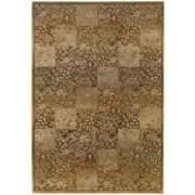 """StyleHaven Transitional Floral Polypropylene 7'10"""" X 11' Green/Gold Area Rug (WGNR3435Y8X11L)"""