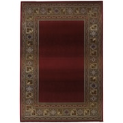 "StyleHaven Transitional Border Polypropylene 5'3"" X 7'6"" Red/Green Area Rug (WGNR3436R5X8L)"