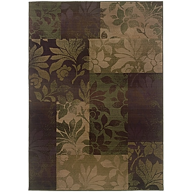 StyleHaven Transitional Botantical Blocks Polypropylene 7'10