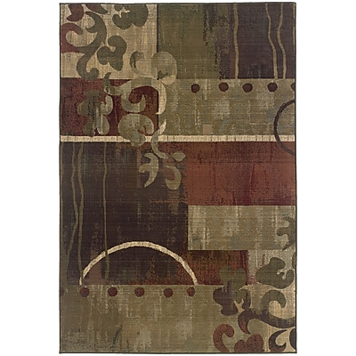 StyleHaven Contemporary Geometric Floral Polypropylene 6'7
