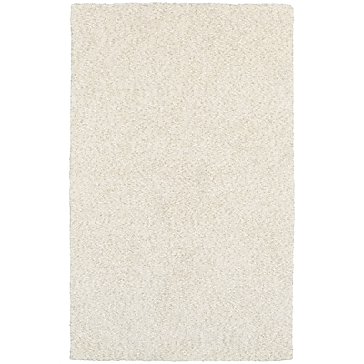 StyleHaven Shag Heathered Polyester 5' X 7' Ivory Area Rug (WHEV734025X8L)
