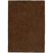 StyleHaven Shag Heathered Polyester 8' X 11' Brown Area Rug (WHEV734048X11L)