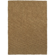 "StyleHaven Shag Heathered Polyester 6'6"" X 9'6"" Gold Area Rug (WHEV734056X9L)"