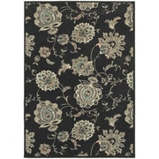 """StyleHaven Transitional Floral Polypropylene 5'3"""" X 7'6"""" Midnight/Ivory Area Rug (WHIG2444I5X8L)"""