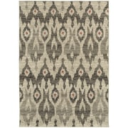 "StyleHaven Transitional Tribal Ikat Polypropylene 6'7"" X 9'6"" Ivory/Grey Area Rug (WHIG6301E6X9L)"