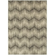 """StyleHaven Transitional Chevron Polypropylene 7'10"""" X 10'10"""" Grey/Ivory Area Rug (WHIG6608A8X11L)"""