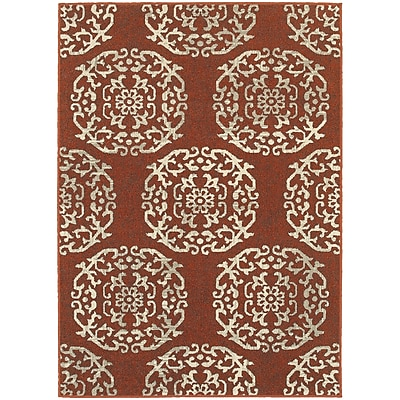 StyleHaven Transitional Floral Medallion Polypropylene 3'10