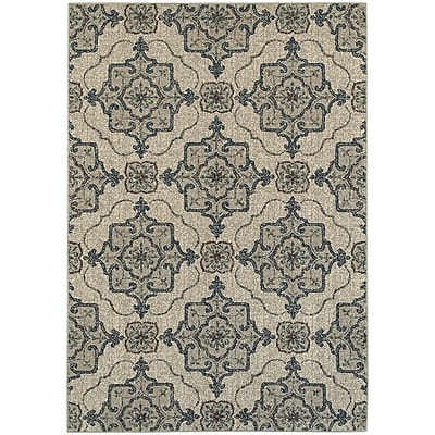 StyleHaven Transitional Medallion Polypropylene 3'10