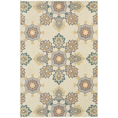 StyleHaven Transitional Large Scale Floral Polypropylene 5'3