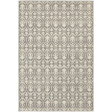 StyleHaven Transitional Distressed Leaf Pattern Polypropylene 5'3