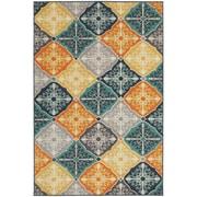 "StyleHaven Transitional Floral Panel Polypropylene 6'7"" X 9'6"" Multi/Blue Area Rug (WHTN2063X6X9L)"