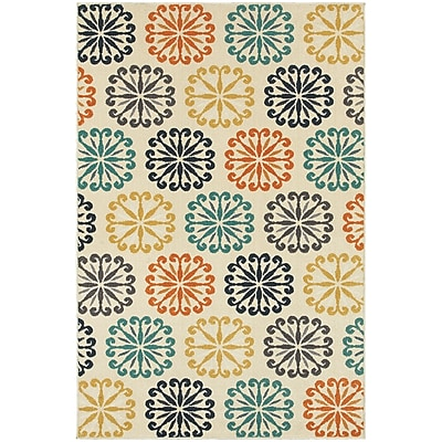 StyleHaven Transitional Floral Circles Polypropylene 7'10