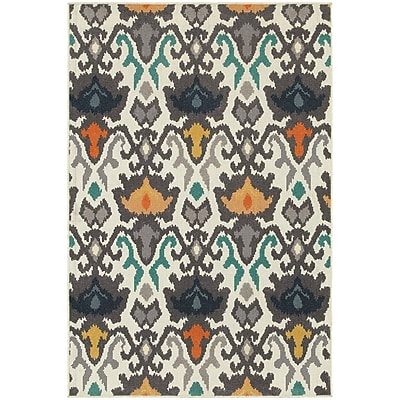 StyleHaven Transitional Floral Tribal Ikat Polypropylene 7'10