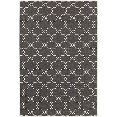 StyleHaven Transitional Geometric Trellis Polypropylene 5'3