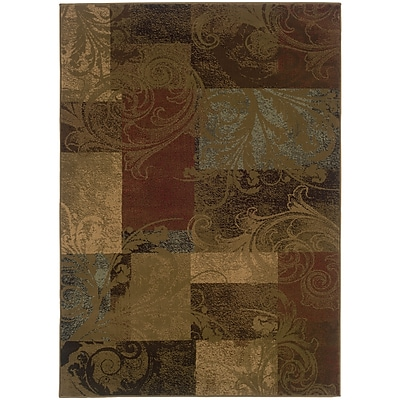 StyleHaven Transitional Botantical Blocks Polypropylene 3'10