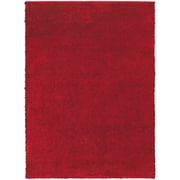 "StyleHaven Contemporary Solid Shag Polypropylene 5'3"" X 7'3"" Red Area Rug (WIMS846005X8L)"