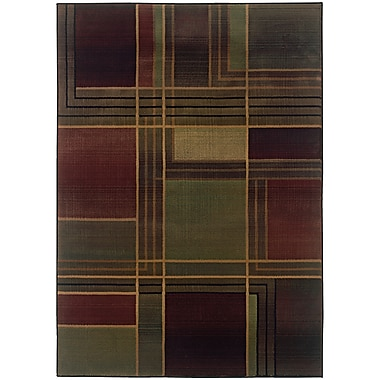 StyleHaven Contemporary Geometric Polypropylene 5'3