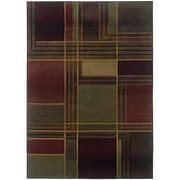 "StyleHaven Contemporary Geometric Polypropylene 7'10"" X 11' Green/Purple Area Rug (WKHR1330G8X11L)"