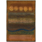 """StyleHaven Contemporary Abstract Polypropylene 4'X 5'9"""" Gold/Green Area Rug (WKHR167X44X6L)"""