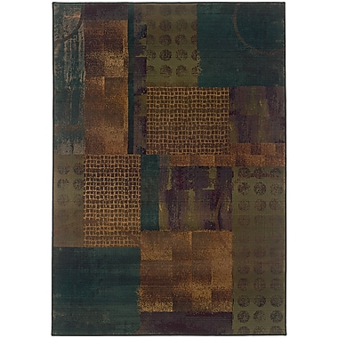 StyleHaven Contemporary Distressed Patchwork Polypropylene 7'10