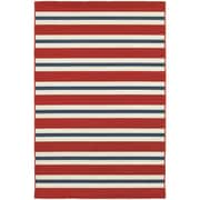 "StyleHaven Outdoor Stripe Polypropylene 3'7"" X 5'6"" Red/Blue Area Rug (WMEI5701R4X6L)"