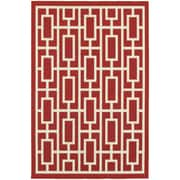 "StyleHaven Outdoor Geometric Polypropylene 7'10"" X 10'10"" Red/Ivory Area Rug (WMEI9754R8X11L)"