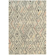 """StyleHaven Contemporary Abstract Polypropylene 7'10"""" X 10'10"""" Ivory/Multi Area Rug (WNOM2162W8X11L)"""