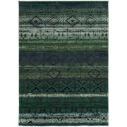 "StyleHaven Contemporary Abstract Polypropylene 7'10"" X 10'10"" Green/Blue Area Rug (WNOM8123G8X11L)"