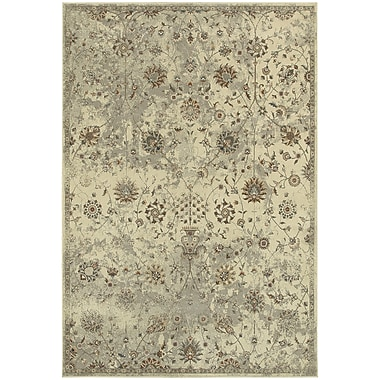 StyleHaven Traditional Distressed Floral Polypropylene 5'3