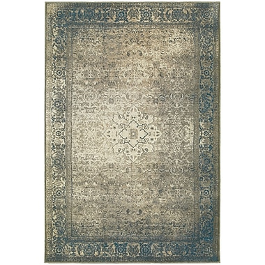 StyleHaven Traditional Distressed Medallion Polypropylene 3'10
