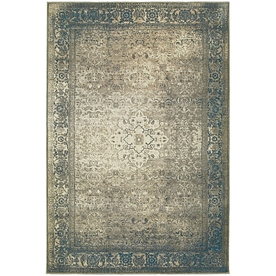 StyleHaven Traditional Distressed Medallion Polypropylene 6'7