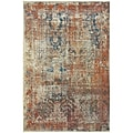 "StyleHaven Contemporary Distressed Polypropylene 5'3"" X 7'6"" Beige/Multi Area Rug (WPSH521X65X8L)"
