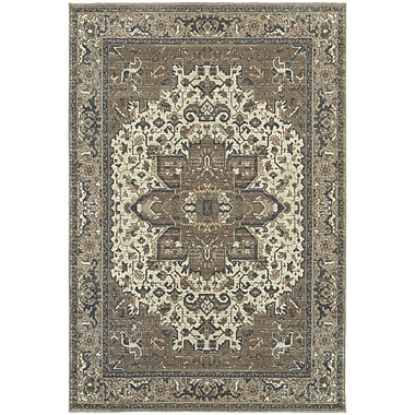 StyleHaven Traditional Distressed Traditional Polypropylene 5'3