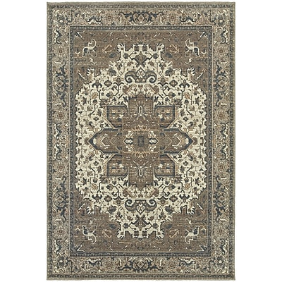 StyleHaven Traditional Distressed Traditional Polypropylene 6'7